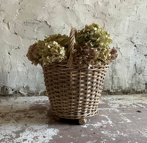 19th Century French Wicker Basket