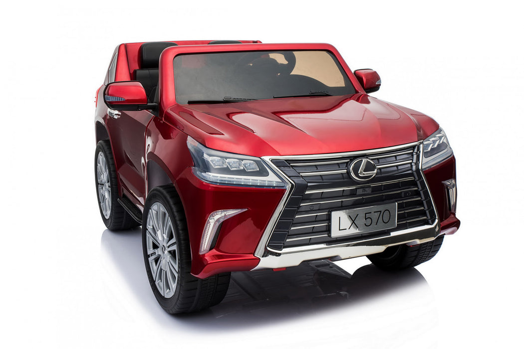 Newest Licensed Lexus LX 570  Red 2-Leather seats 2.4 G remote control with Brake button 4 motors