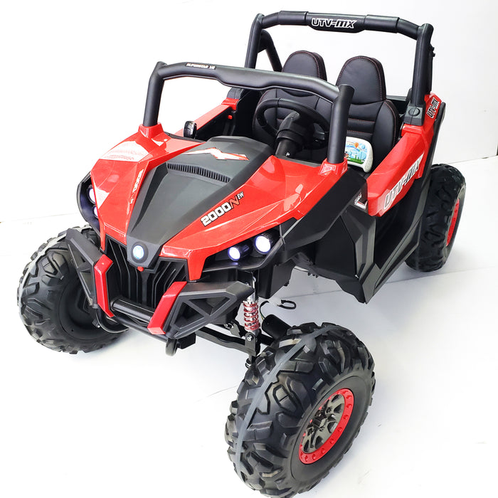 Electric Buggy xmx603-Pink Kids Ride On Car 4 Motors 2 Seats Remote Control Rubber Wheels
