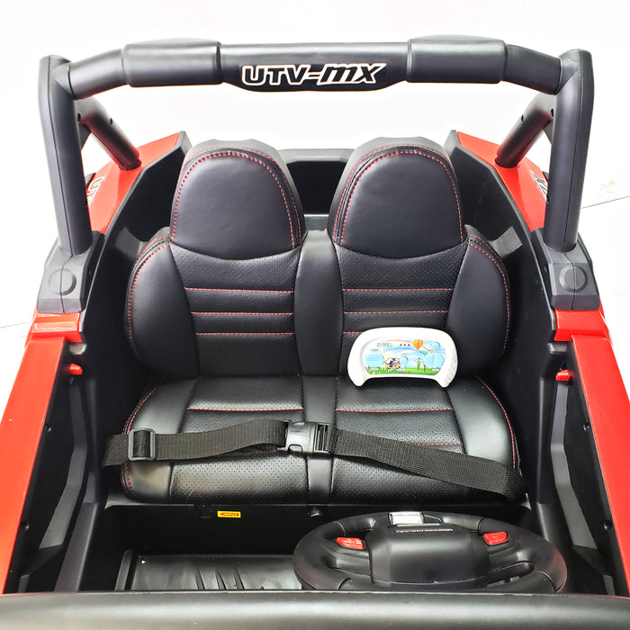 Copy of Buggy XMX603 MP4 RED Kids Electric Ride On Car 2 Seats Rubber Wheels 4 Motors