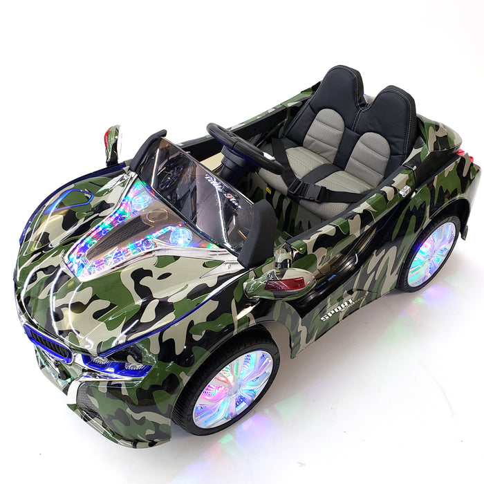 Kids Electric Ride On 12 Volt Car Leather Seat MP3 Connection