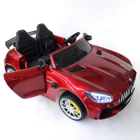 Kids Electric Ride On Mercedes GTR AMG - RED 2 SEATS