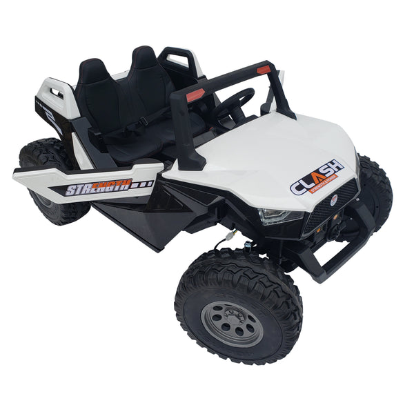 BUGGY SX 1928 MP4 WHITE  24 Volts , Touch Screen , 4 Motors*2 Seats