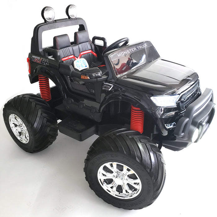 Monster Truck MT 750 Black - Kids Electric Remote Control Battery Operated Ride On Car Toy for Kids