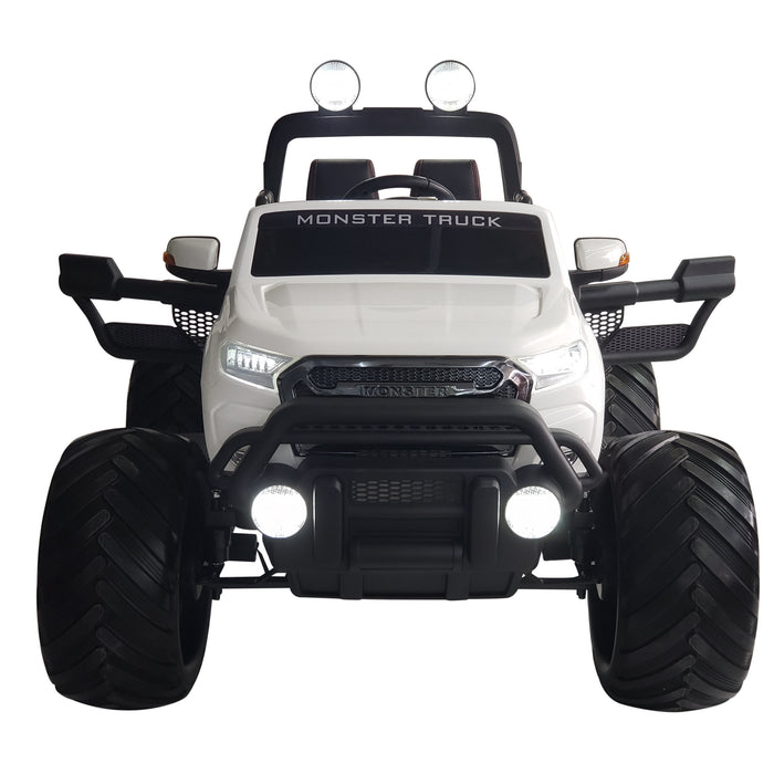 Monster Truck MT750- White Kids Electric Battery Operated Ride On UTV Style With 2 seats !