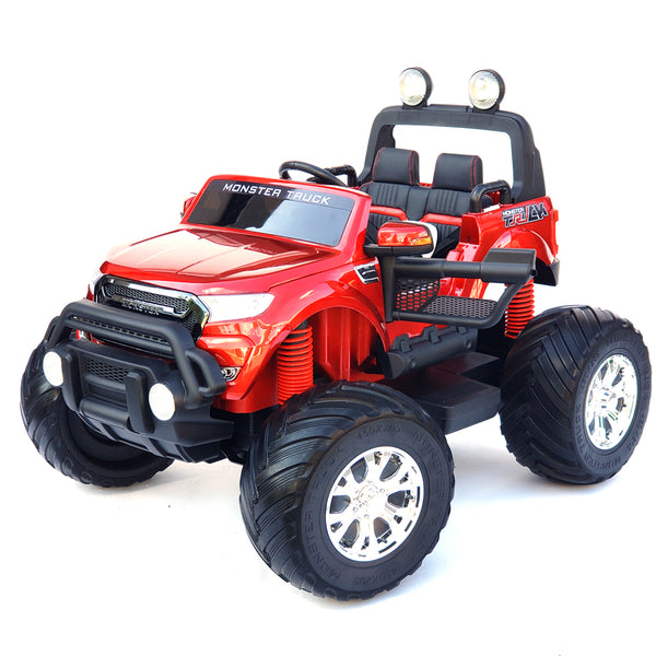 Monster Truck MT 750 Red Kids Electric Battery Operated  Ride On 2 Seat Car UTV Model with 4 Motors * TV Screen