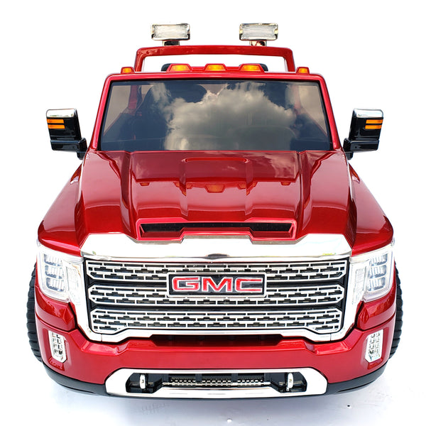 Kids Electric Battery Operated Ride On GMC - HL368 TRACK With 2 leather Seats* Rubber Wheels *4 motors* Red Paint !
