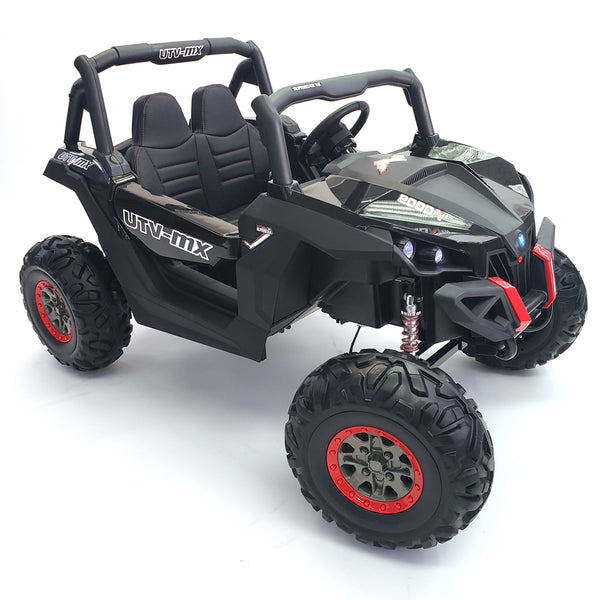 Buggy - XMX603 Black Color DOUBLE BATTERIES (2 BATTERIES 12V7AH each)3 SPEED New 2.4G Remote Control