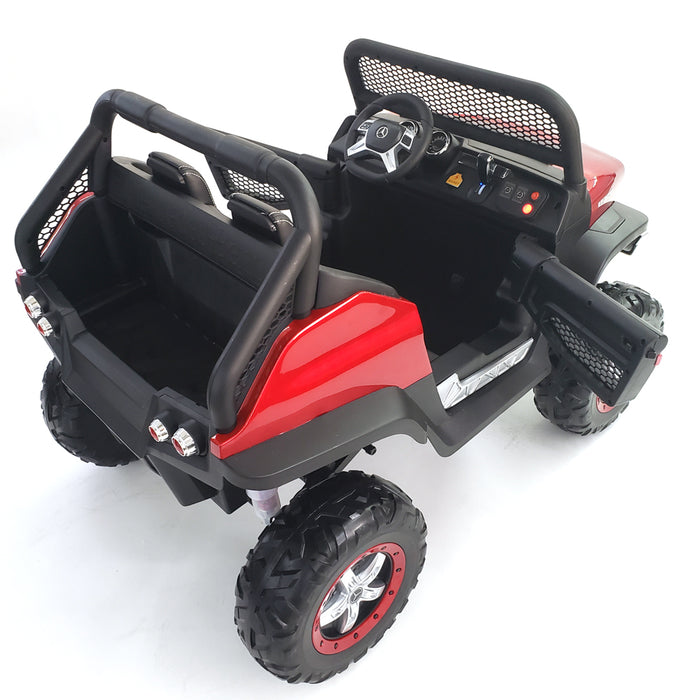 Battery Operated Kids Electric Ride On Mercedes Unimog Car MB-unimog-24V-red*2 Seats*24 Volt Battery*2 Motors-200 Watts Each