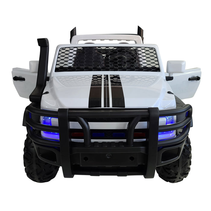 Monster Truck FD AO26- White Kids Electric Battery Operated XXL SUV With 2 Seats .