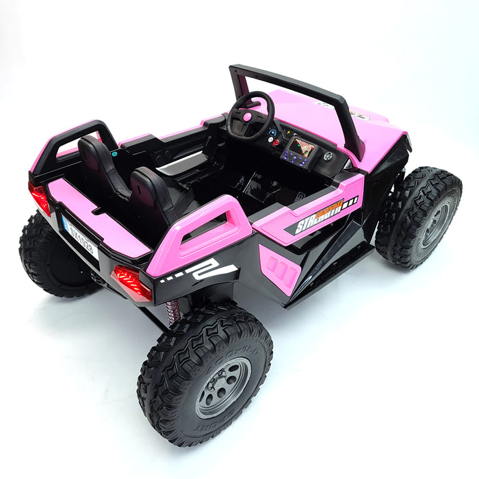 Buggy 1928-Pink Kids Electric Ride On Car*2 Seats,24 Volts*Huge Rubber Tires