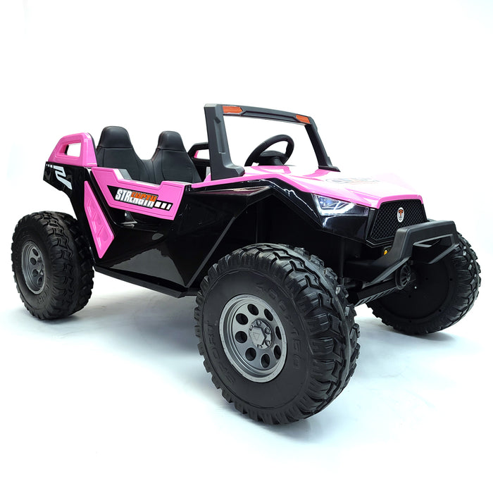Kids Electric Buggy-sx1928-mp4-pink Ride On Car*2 Seats* 24 Volts*Rubber Wheels*TV Screen