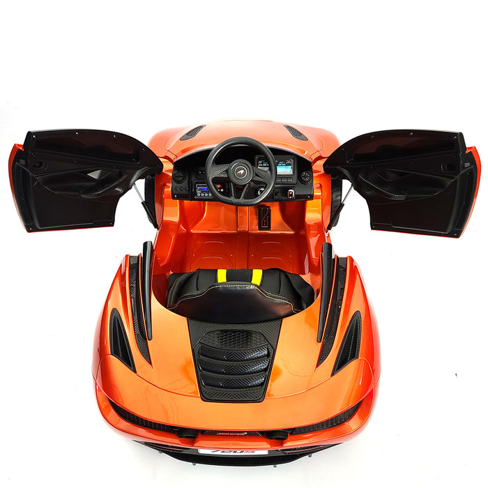 Kids Electric Car McLaren 720S Orange Remote Control 12 Volt Battery Operated Riding Toy