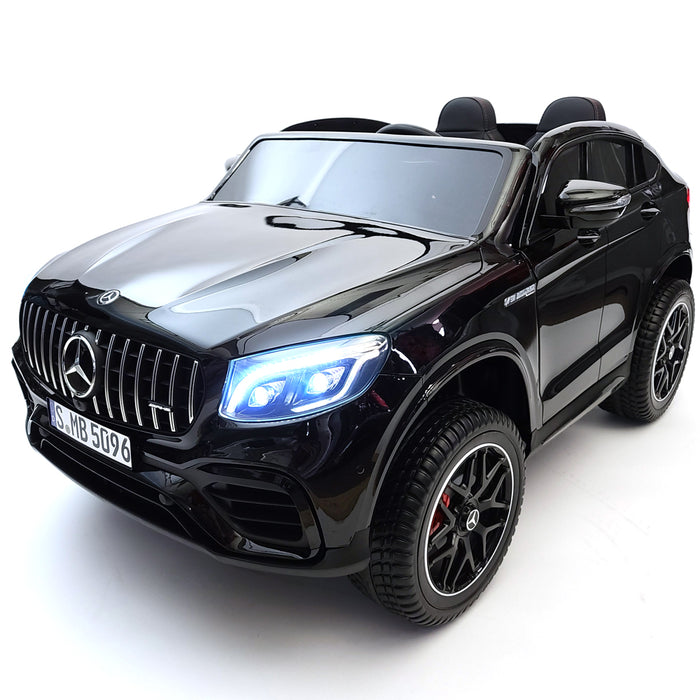 Electric Mercedes GLC 63s MP4 TV Screen Black Kids Electric Ride On Car 2 Seats Rubber Wheels Double Batteries