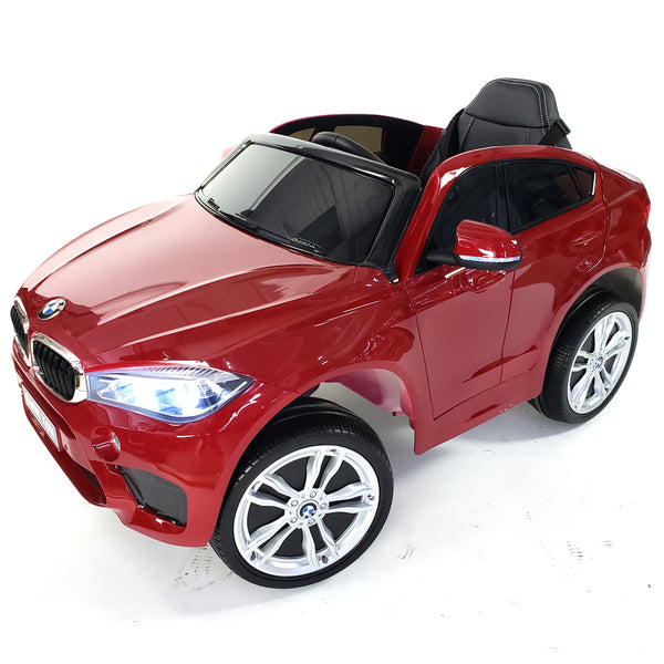 LICENSED 2019 MODEL BMW X6 - 1 SEAT . RED COLOR .