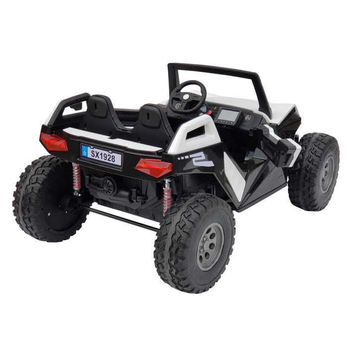 BUGGY SX 1928 WHITE ,24 Volts ,Bluetooth, FM radio, 4 Motors