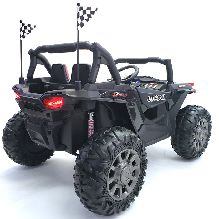 Kids Electric Ride On Buggy Sport Car UTV Model  2 Leather Seats* 2 Battery 12 Volt Each *TV Screen*4 Motors *4 Motors-45 Watts Each