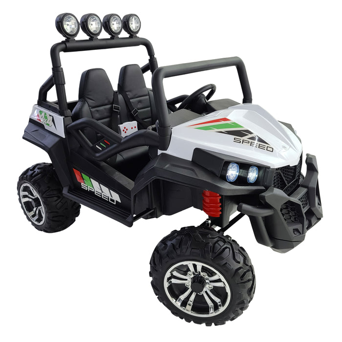 Kids Electric Ride On Buggy-S2588-24V-white Car *2 Seats*Rubber Wheels*2 update 200 Watts *3 Speed* 24 Volts.