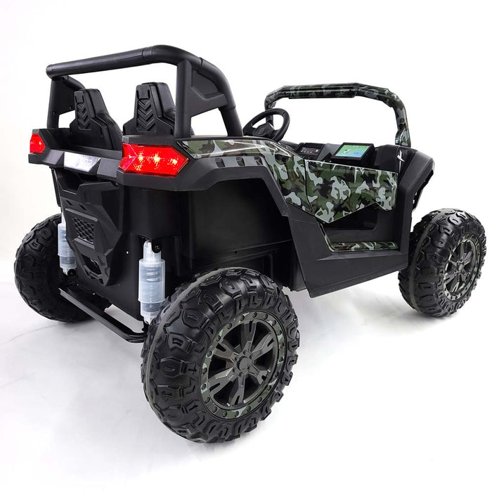Kids Electric Ride On Buggy-A032-army-green 24 Volt EVA Rubber Wheels 2 Sets 60 Watts - 4 Motors