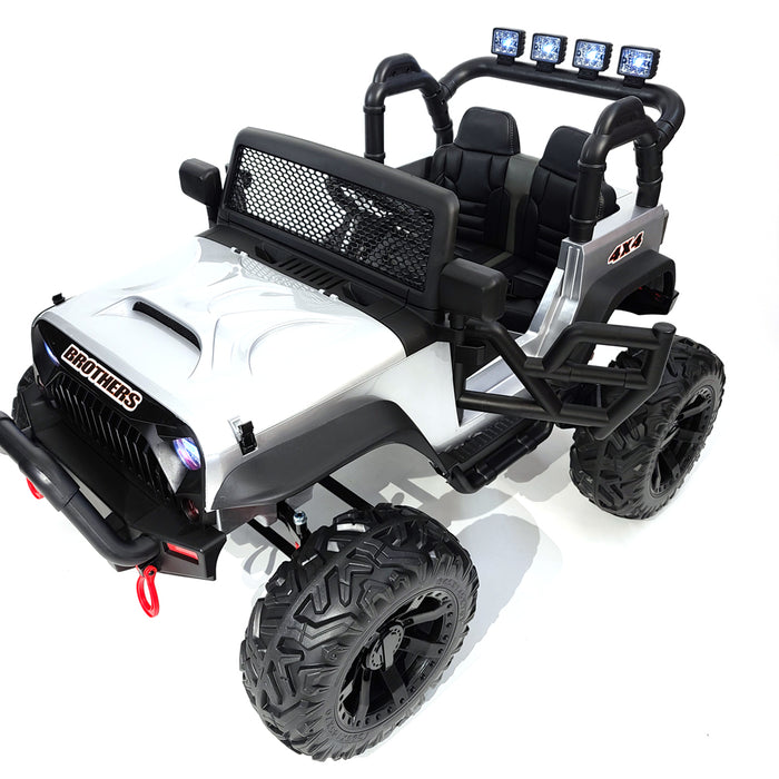 Kids Electric Ride On Jp-JC666-Silver Car 24 Volt Rubber Wheels TV Screen 2 Motors-200 Watts for kids 2 to 5 years old.