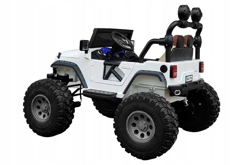 Kids Electric  Battery Operated  Ride on UTV Car 4x4 2 leather Seats Rubber Wheels