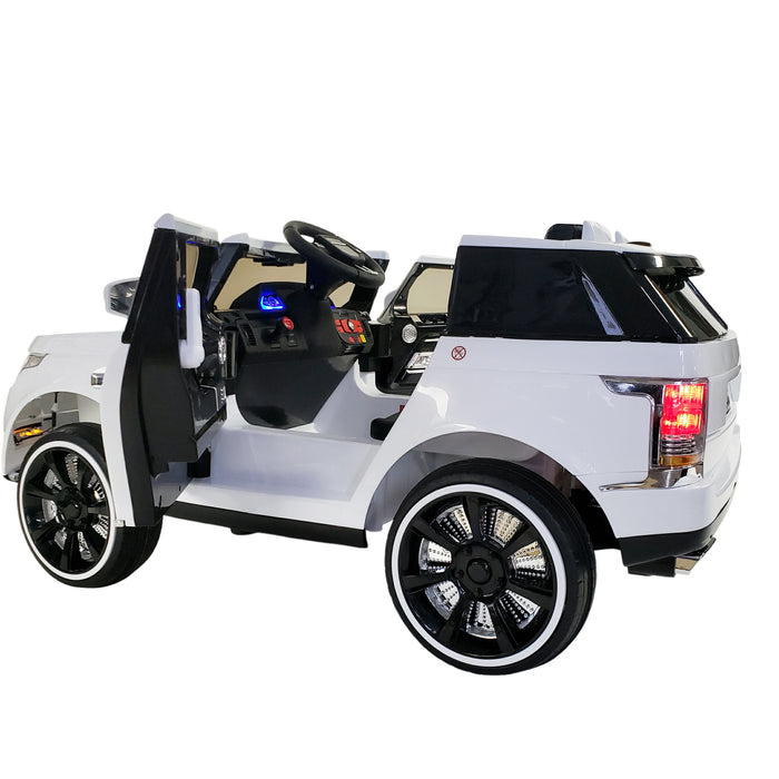 Kids Electric Ride On Car ROV-SC6628-White Battery Operated Remote Control Model !