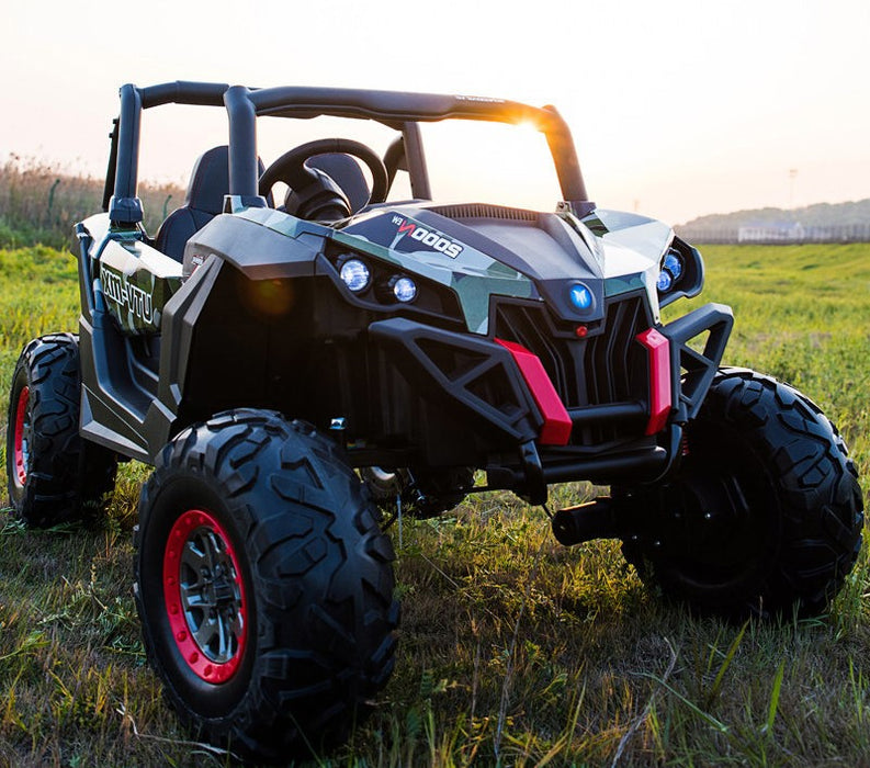 buggy-XMX603-army-green NEW 2020 - OFF ROAD RIDE ON CAR UTV 4 WHEELS DRIVE BEST FOR HARD ROCK AND GRAVEL .