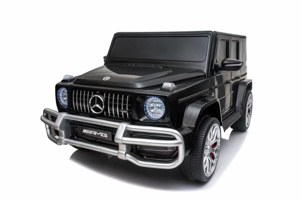 Kids Power  Electric Ride On Mercedes AMG Car -S 307 real paint Black color -24 Volts 2 leather seats EVA Wheels*2.4G Remote Control