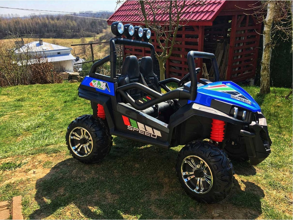 Battery Operated Kids Ride On Buggy-S2588-24V-blue Car*XL Seat*Rubber Wheels*24 Volts* 200 Watts Motors