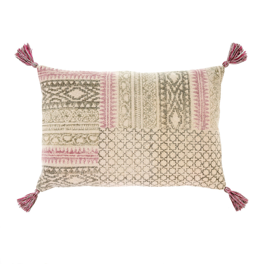 ROSA BLOCK PRINT PILLOW 2