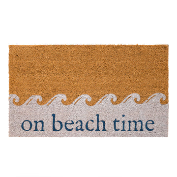 ON BEACH TIME DOORMAT