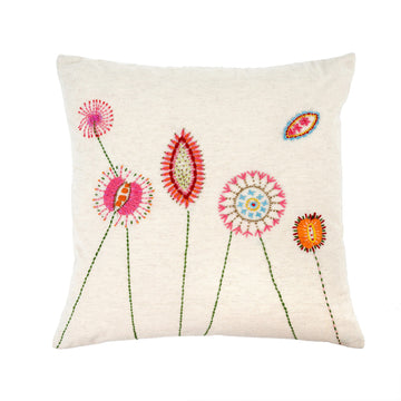 FLORA EMBROIDERED CUSHION