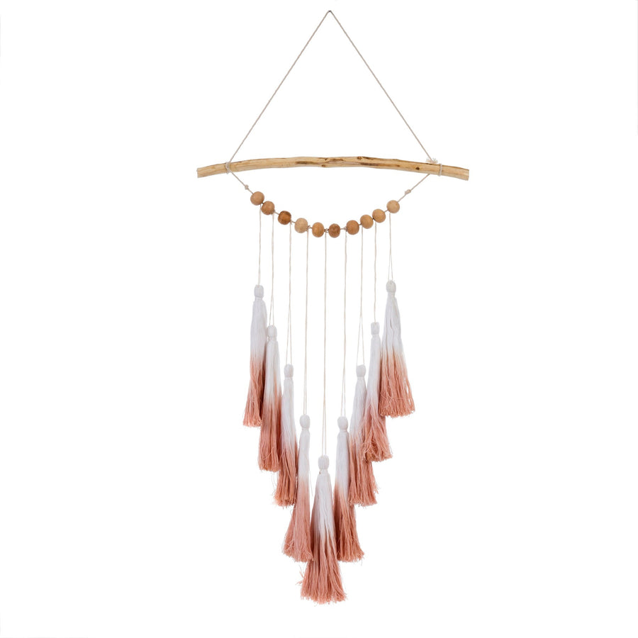 OMBRE TASSEL WALL HANGING PINK