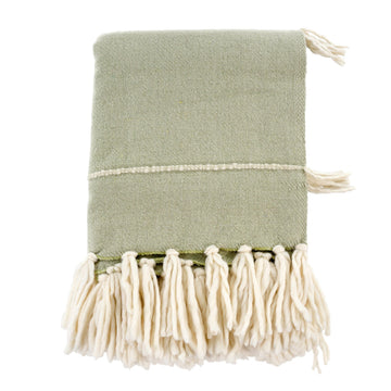 FRINGE THROW - CELADON