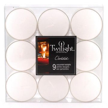 TEALIGHTS - 9 PACK - WHITE