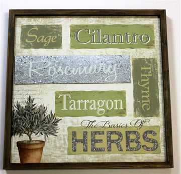 HERB PLAQUE