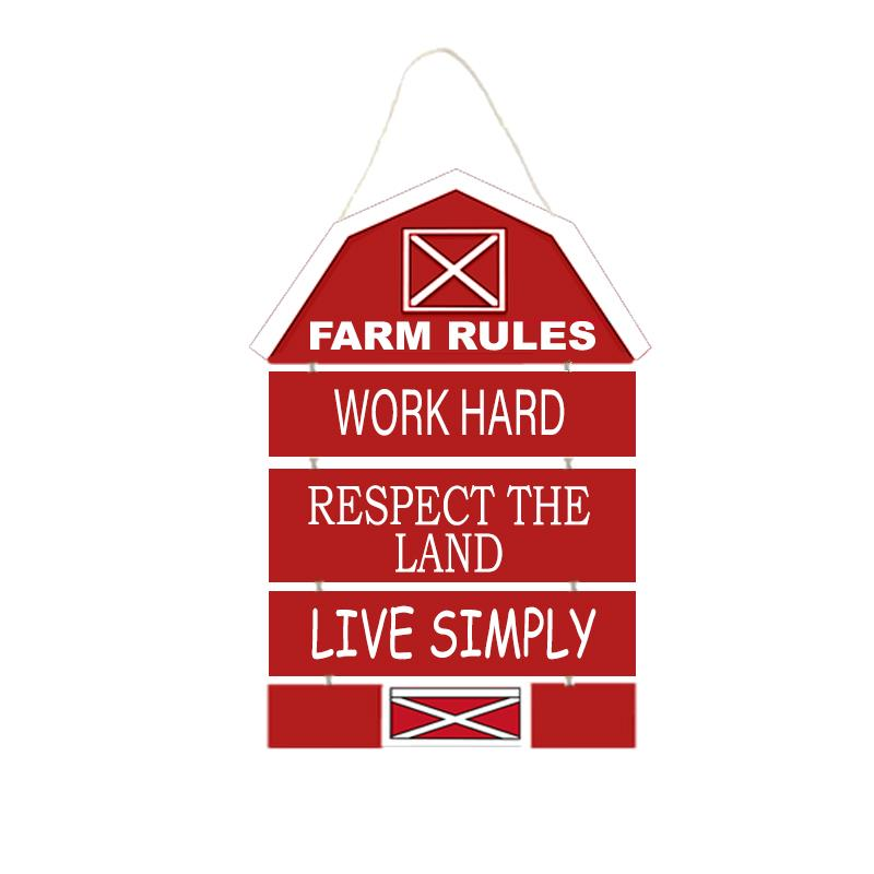 FARM RULES SIGN