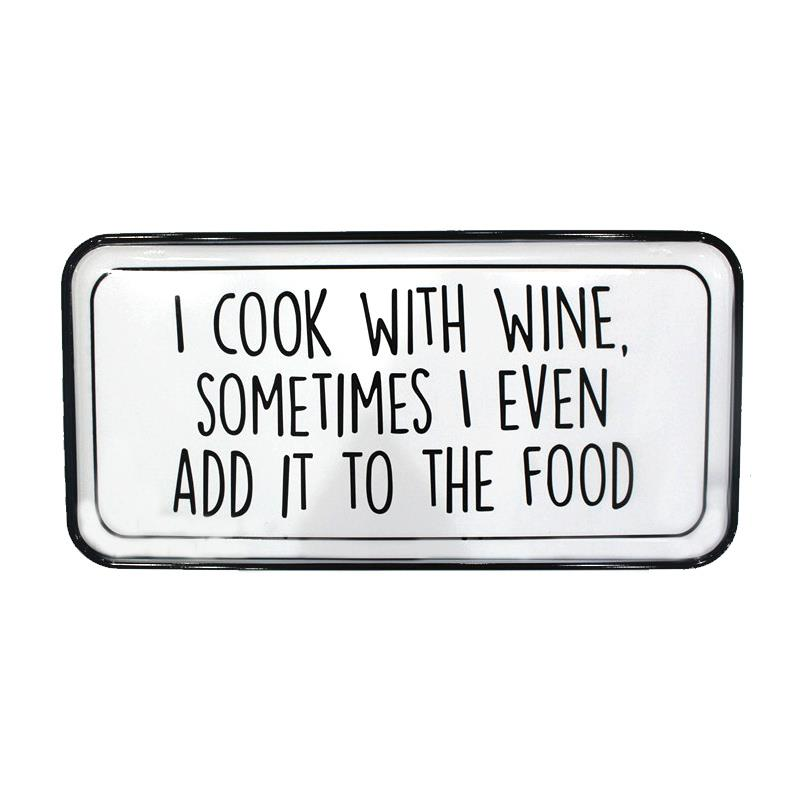 COOK WITH WINE SIGN