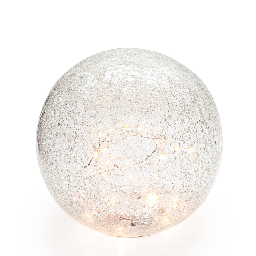 LED SPHERE CRACKLE GLASS DECOR LIGHT
