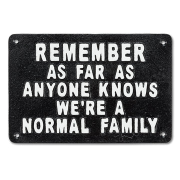 NORMAL FAMILY SIGN