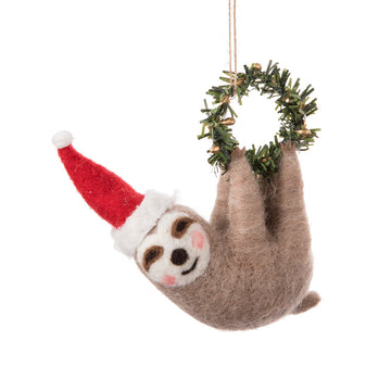 SLOTH SM WREATH ORNAMENT