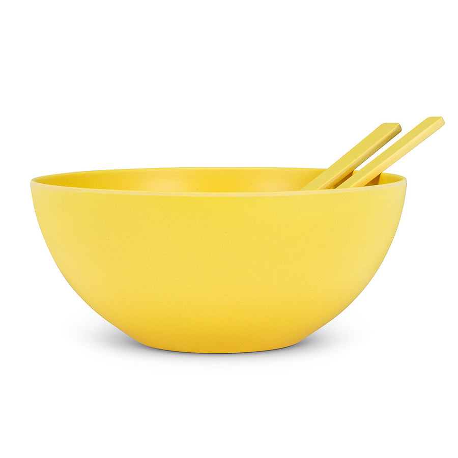 SALAD SERVERS YELLOW