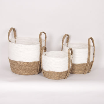 WH/NAT STRAW BASKET