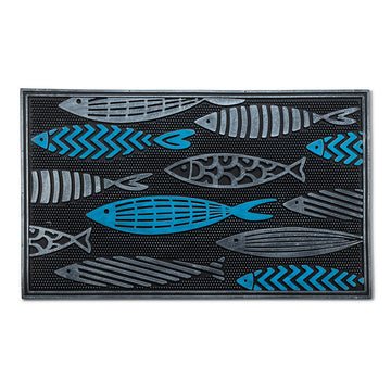 FISH SCHOOL DOORMAT