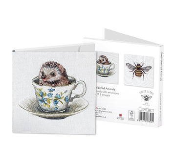 EMBROIDERED ANIMALS NOTECARDS