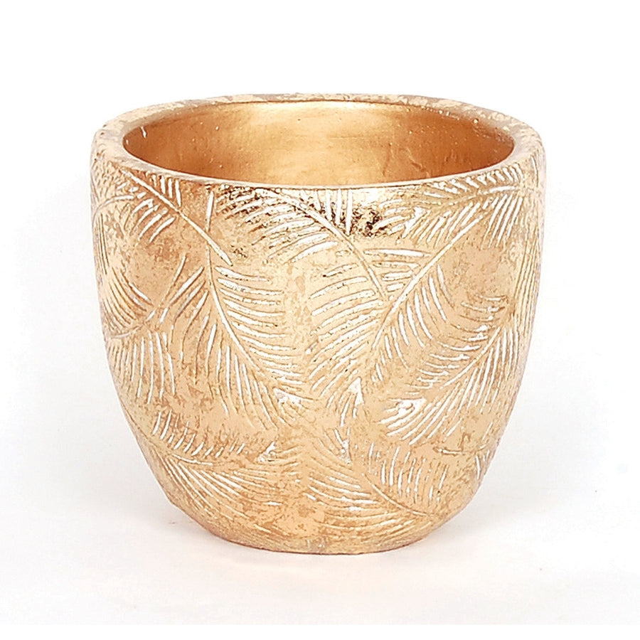 GOLD FOIL LEAF EMBOSS POT