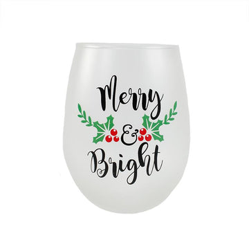 MERRY & BRIGHT WINE GLASS