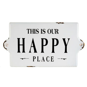 HAPPY PLACE ENAMEL SIGN