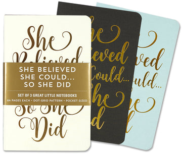 JOTTER MINI NOTEBOOKS - SHE BELIEVED SHE COULD