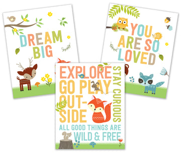 ART PRINTS WOODLAND FRIENDS